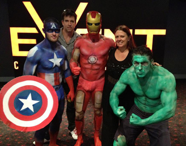 Body Painting Event Cinema Brisbane Gold Coast Melbourne Australia