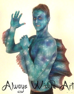 Cameron McEvoy Fish Special Effects Body Paint Gold Coast Brisbane Australia