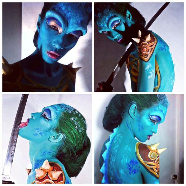 Body Painting Reptile Special Effects Dani Hayes New Zealand Top Model Melbourne Australia