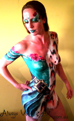 Body Painting Brisbane Gold Coast Melbourne Australia