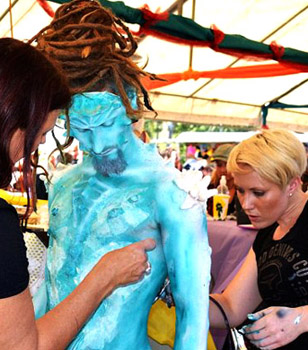 body painting special fx australian body art carnivale gold coast tweed brisbane queensland