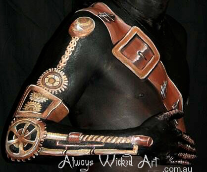 Steam Punk Body Painting Brisbane Gold Coast Melbourne Australia