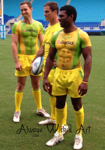 Rugby Seviins Australia Body Painting  Gold Coast Brisbane Melbourne