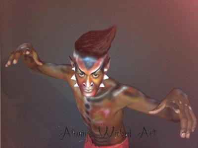 Body Painting Shazam Experience Special effects Brisbane Gold Coast Melbourne Australia