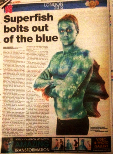 Body Painting Cameron McEvoy Olympic Swimmer by Robyn Janetzki