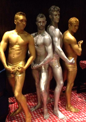 Logies Body Painting metallic Living Statues Brisbane Melbourne