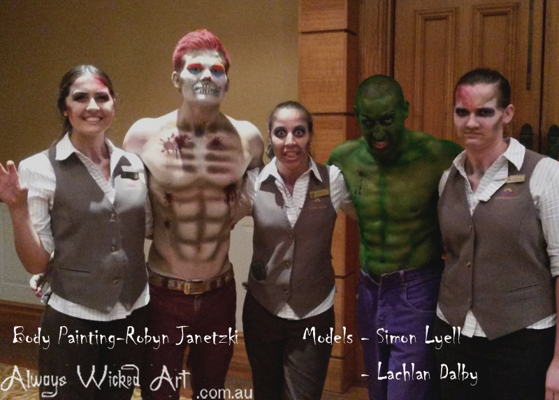 Freaky-podium-dancers-halloween-body-painting