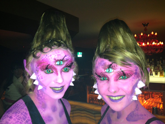 Pink-Aliens-East-Nightclub-Surfers-Paradise-Special-Effects-makeup-Body-Painting